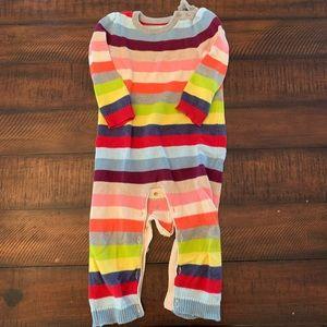 GAP rainbow sweater romper